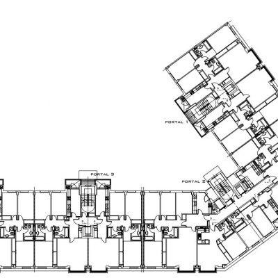 Plano de planta Viviendas en la plaza Colón 01